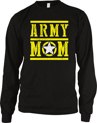 Army Mom Mother Military Armed Forces USA Pride Patriotic Long Sleeve Thermal