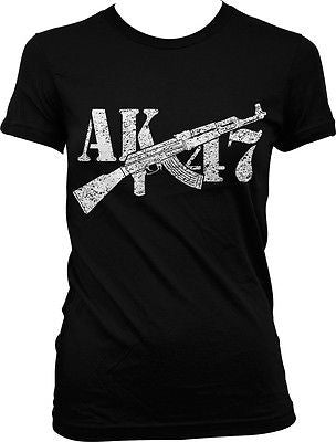 AK-47 Assault Rifle Pro-gun Rights 2nd Second Amendment Freedom Juniors T-shirt