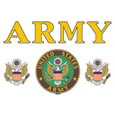 Army Emblem Great Seal USA United States of America Ground Troops Mens T-shirt