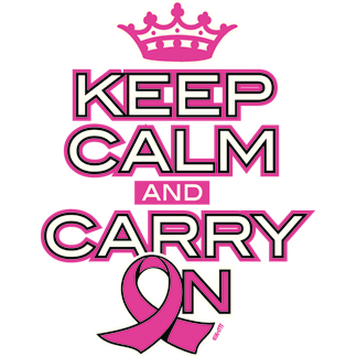 Keep Calm and Carry On Breast Cancer Awarness Pink Ribbon New Mens T-shirt