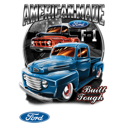 American Made Built Ford Tough F-150 Truck Car FREE SHIPPING New Mens T-shirt