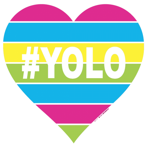 YOLO You Only Live Once Rainbow T-shirt