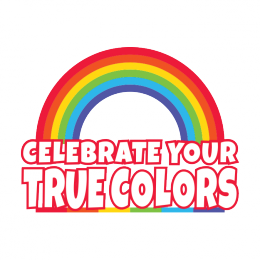 Celebrate Your True Colors Rainbow Gay Lesbian Pride LGBT Equality Mens T-shirt