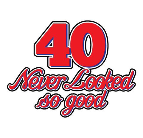 40 Never Looked So Good Birthday Forty Handsome Pretty Funny New Mens T-shirt
