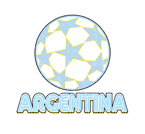 Argentina Argentinian Soccer Ball Futbol  World Cup New Men's T-shirt