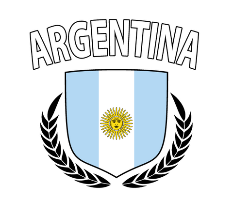 Argentina Argentinian Flaf Bandera Shield Regal World Cup New Men's T-shirt