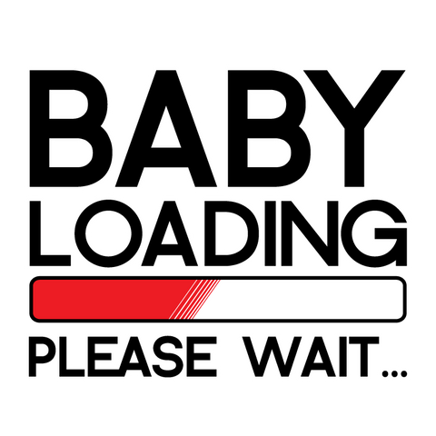 Baby Loading Please Wait Pregnant Pregnancy Announcement Funny Hoodie Pullover