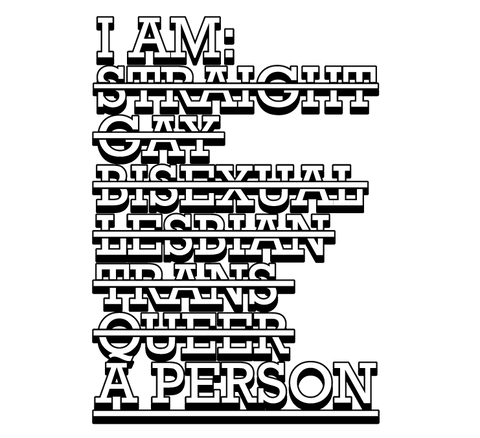 I Am A Person Equality Striaght Gay Lesbian Bisexual Trans Pride Mens T-shirt