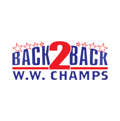 Back to Back W.W. Champs USA America Patriotic Pride Juniors V-neck T-shirt