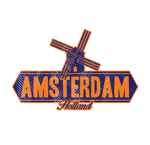 Amsterdam Holland Windmill Netherlands Nederlands Pride Mens T-shirt