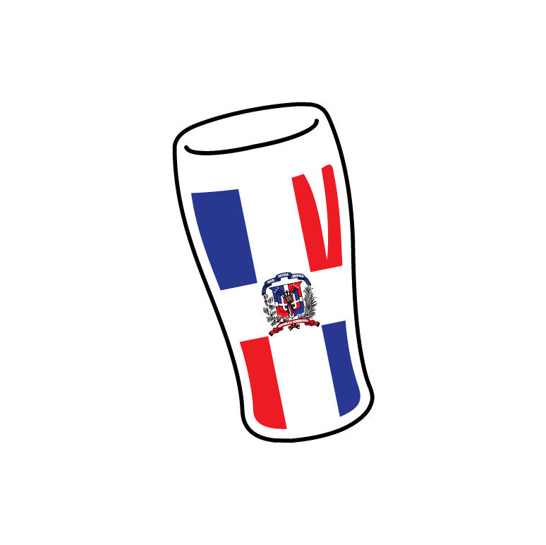 Flag Of Dominican Republic Beer Pint Glass Cerveza Pale Lager Mens