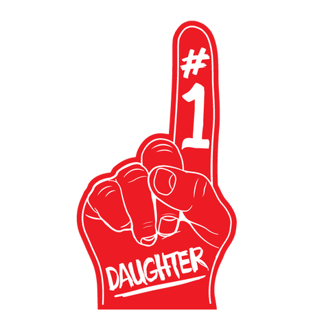 #1 Number One Daughter Women's Crew Neck T-shirt