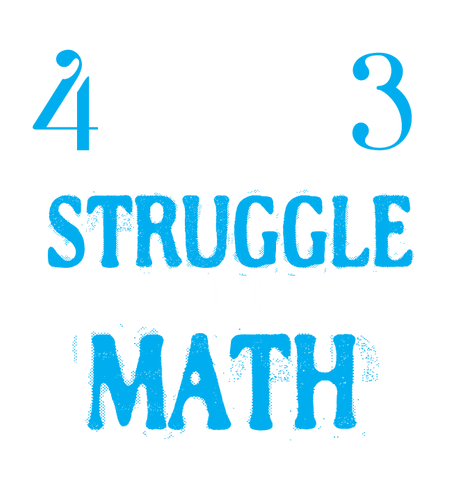 4 out of 3 People Struggle With Math Nerd Geek Funny 2-tone Hoodie Pullover