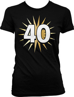 40 Fortieth Forty Years Old Happy Birthday Party Juniors Girls T-shirt