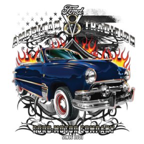American Tradition V8 Ford Motor Company Car USA FREE SHIPPING Girls T-shirt