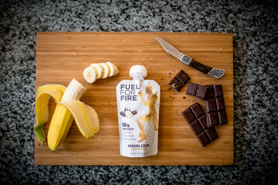 Bananas Chocolate Cutting Board