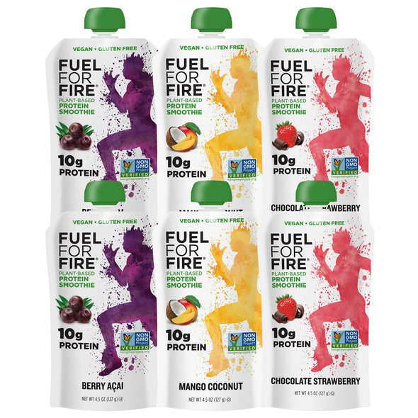 Fuel for Fire plant-based protein smoothie variety pack