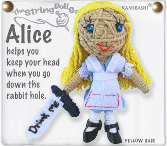 Alice in Wonderland String Doll Keychain