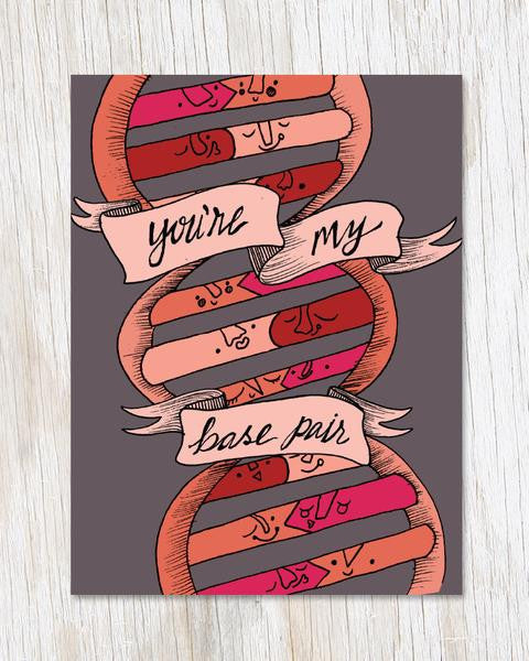 You're My Base Pair DNA Card
