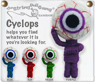 Cyclops String Doll Keychain