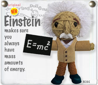 Albert Einstein String Doll