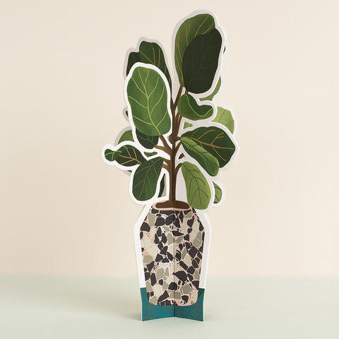 Fiddle Leaf Paper Plant
