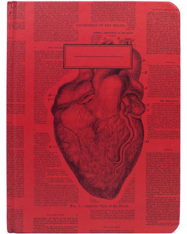 Anatomical Heart Hardcover Notebook