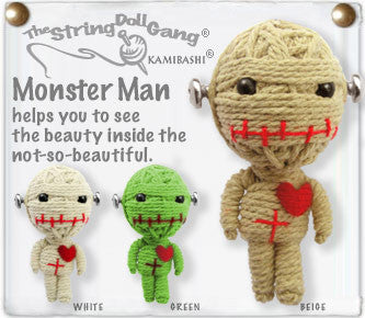 Monster Man String Doll Keychain