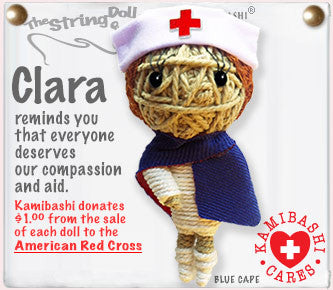 Nurse Clara String Doll Keychain