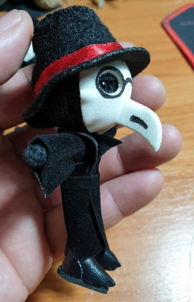 Plague Doctor String Doll Keychain