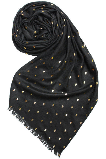 Black Scarf with Skulls