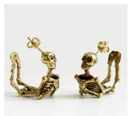 Human Skeleton Earrings