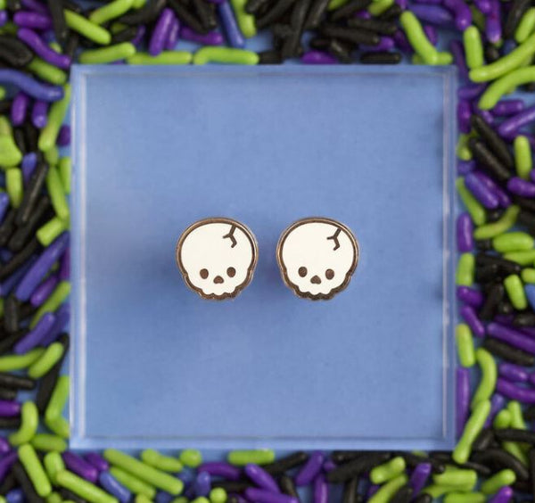 Skull Enamel Earrings