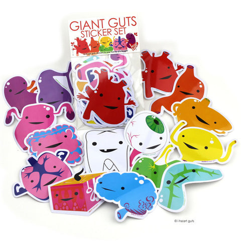 Giant Guts Sticker Set
