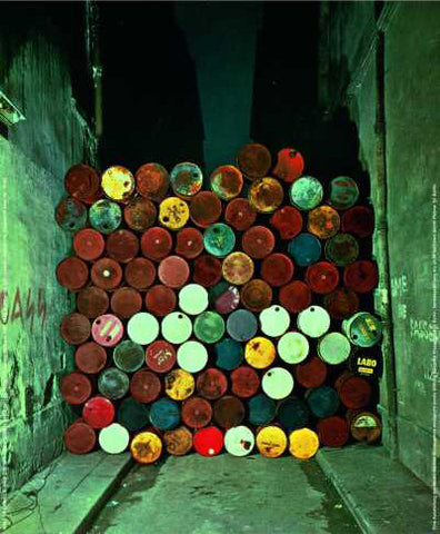 Iron Curtain, Wall of Oil Barrels (Photo, 1961-62)