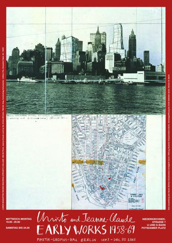 Lower Manhattan Wrapped Buildings, Project for NYC (Collage, 1964-1966)