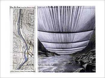 Over the River, From Underneath (Collage, 1993)