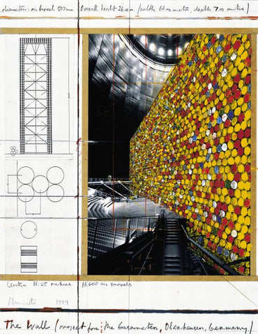 The Wall, Project for Gasometer Oberhausen (Collage, 1999)
