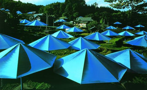 Umbrellas Blue (Photo, 1991)