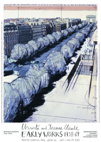 Wrapped Trees, Project for Paris (Collage, 1969)