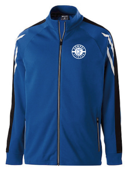 Compel Fitness Holloway Flux Jacket - Royal Heather/Black/White