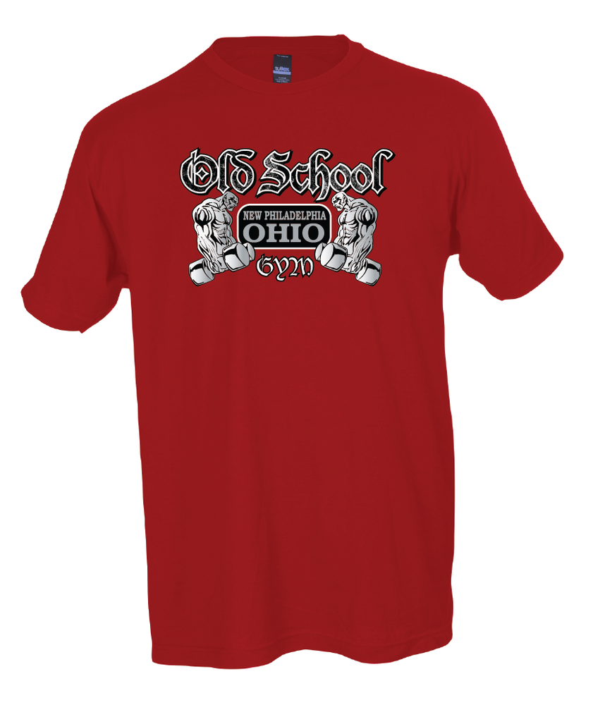 Old School Gym Tultex Unisex Fine Tee - Red