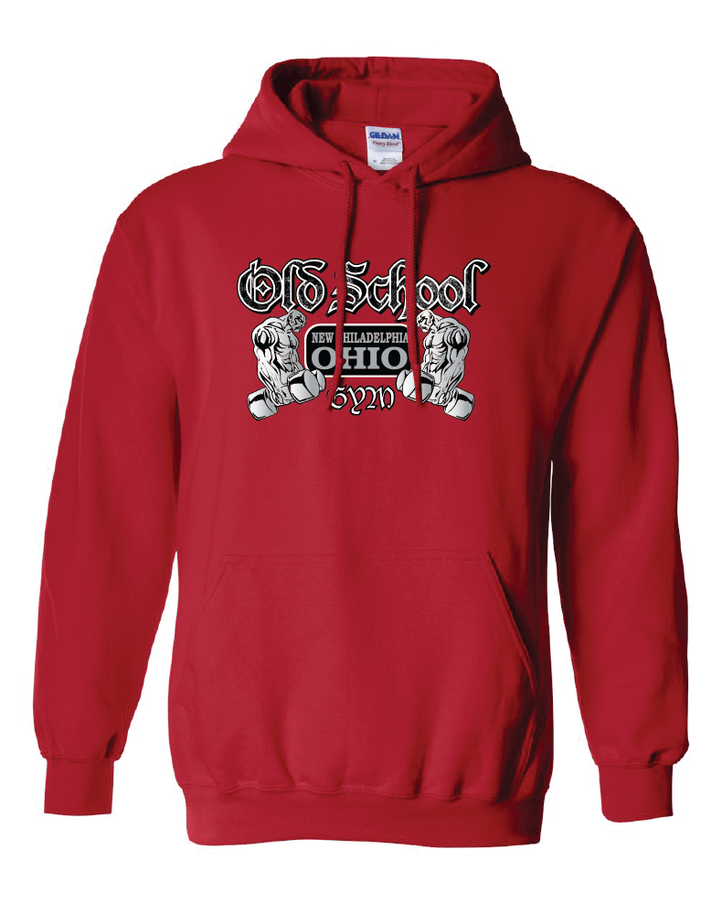 Old School Gym Gildan Heavy Blend Hooded Sweatshirt - Red