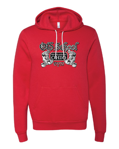 Old School Gym Bella + Canvas Unisex Hooded Pullover Sweatshirt - Red