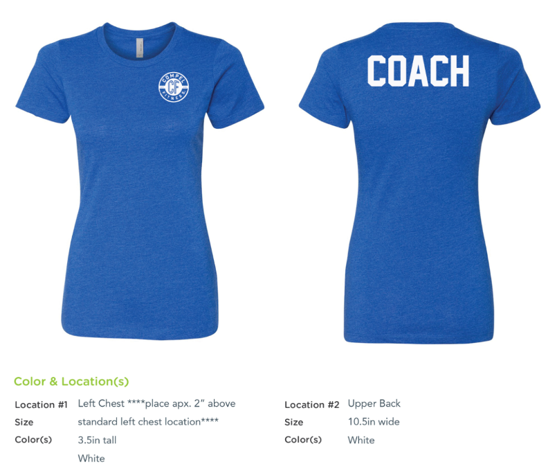 Compel Fitness COACH Ladies' CVC Crew - Royal Blue
