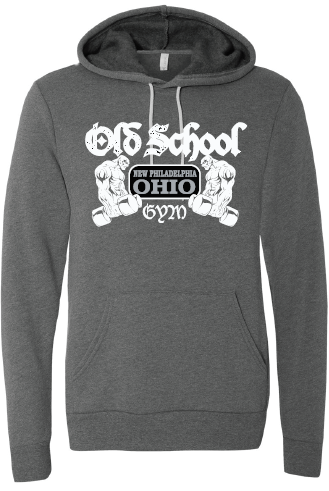 Old School Gym Bella + Canvas Unisex Hooded Pullover Sweatshirt - Deep Heather