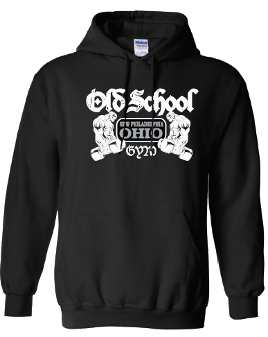 Old School Gym Gildan Heavy Blend Hooded Sweatshirt - Black