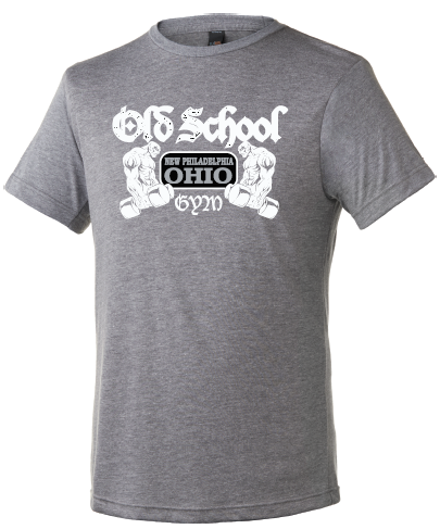 Old School Gym Tultex Unisex Tri Blend Tee - Heather Tri Blend