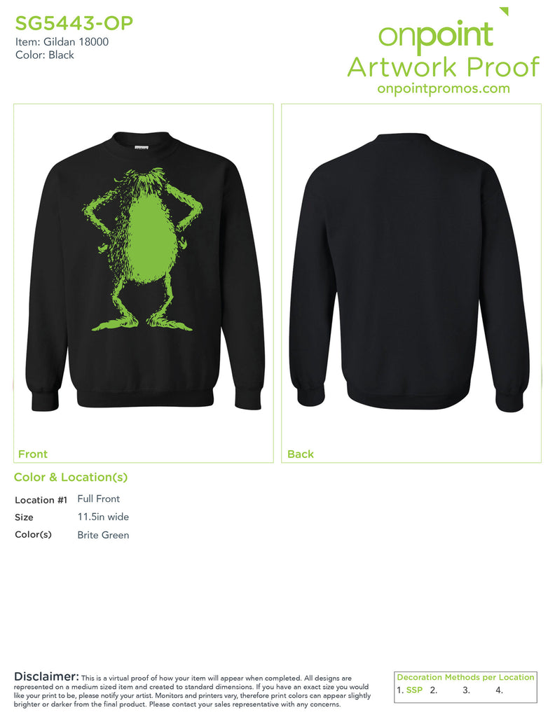 Grinch Christmas Sweatshirt