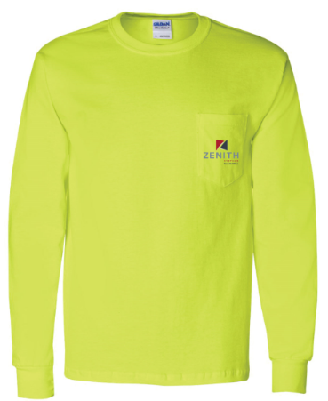 Zenith Long Sleeve T-Shirt - Safety Green
